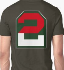 American, ARMY, Military, 2, two, US, USA, America, Second Army, 2nd Army, Shoulder Sleeve, Insignia. Unisex T-Shirt