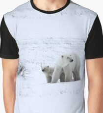 Polar Bear Mother & Cub in the Tundra Graphic T-Shirt