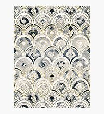 Monochrome Art Deco Marble Tiles Photographic Print