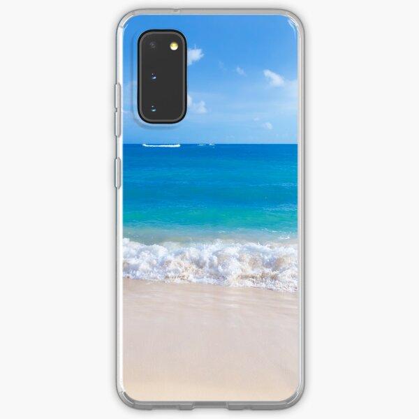 Gentle waves on the sandy beach in Hawaii Samsung Galaxy Soft Case