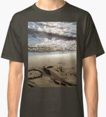 Sand beach heart Classic T-Shirt