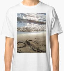 Sand beach heart Classic T-Shirt