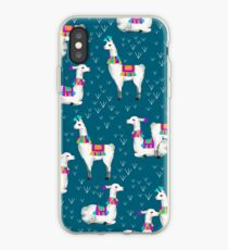 Watercolor llamas iPhone Case