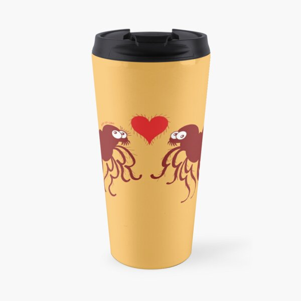 Ugly fleas madly falling in love Travel Mug