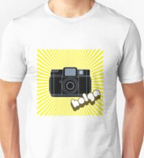 Holga Camera with Yellow Rays T-Shirt