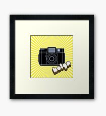 Holga Camera with Yellow Rays Framed Print