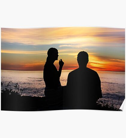 Conversation At Sunset Poster