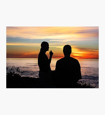 Conversation At Sunset Photographic Print