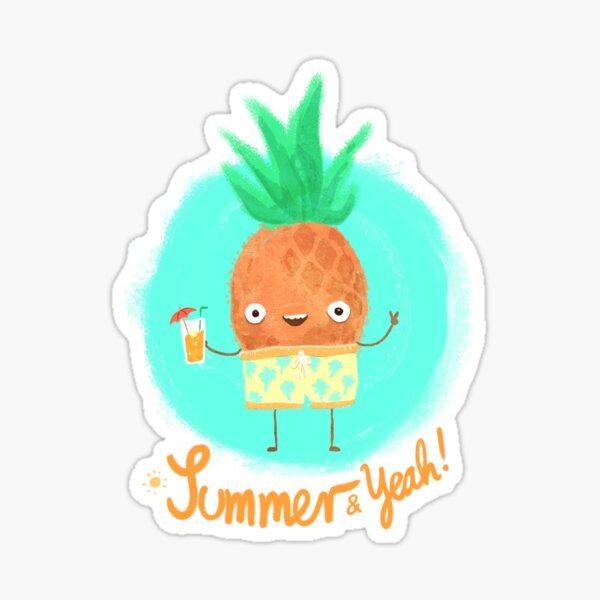Summer & Yeah (Pineapple) Sticker