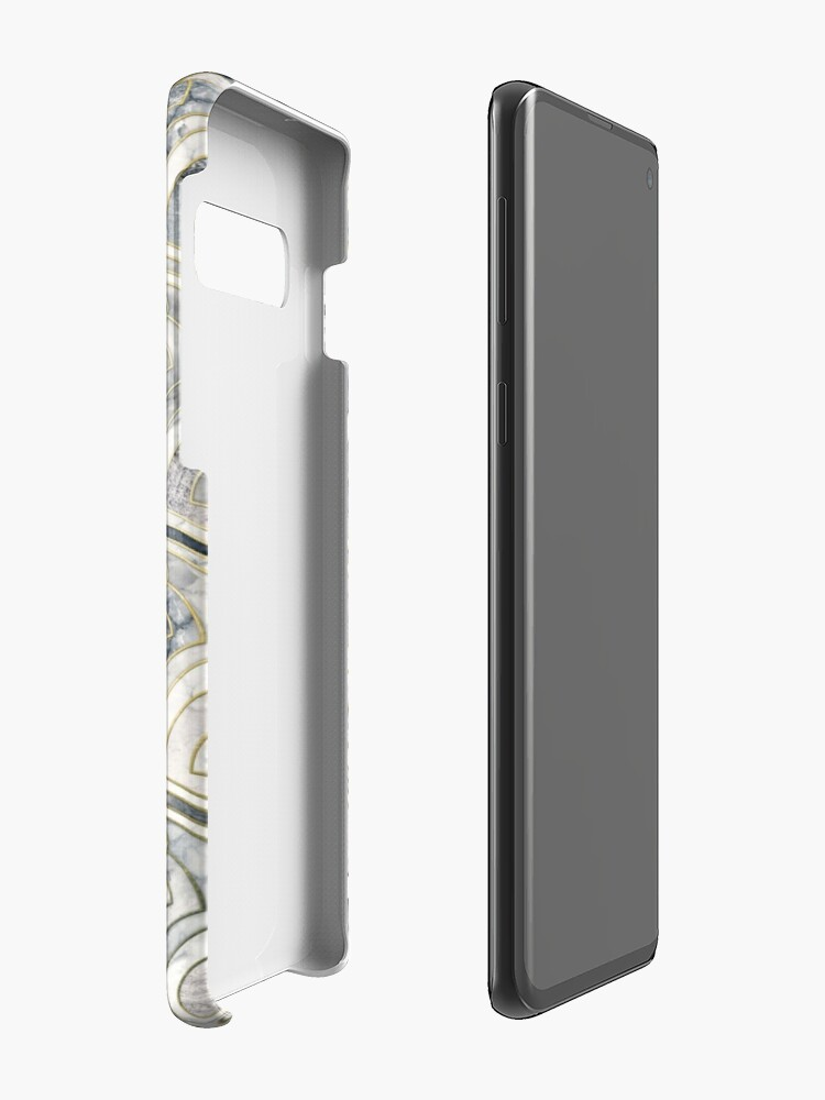 Alternate view of Monochrome Art Deco Marble Tiles Case & Skin for Samsung Galaxy