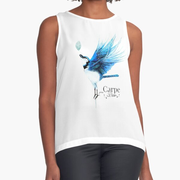 Winged BlueBird by JTMUSES Sleeveless Top
