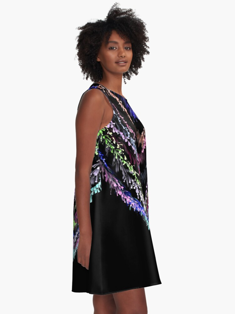 Alternate view of Neon sparkle A-Line Dress