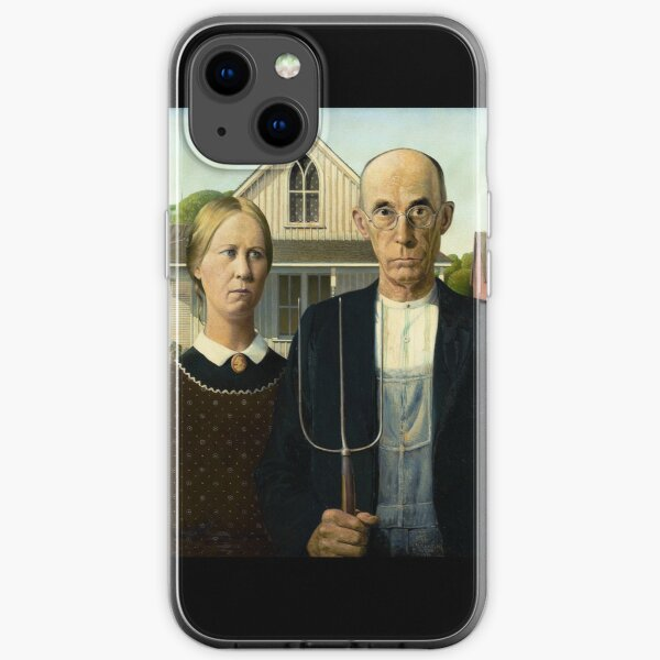 American Gothic by Grant Wood iPhone Soft Case