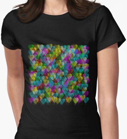 Dripping Watercolor Hearts T-Shirt