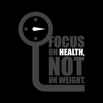 Focus on health not on weight - Gym Motivational Quote by artomix
