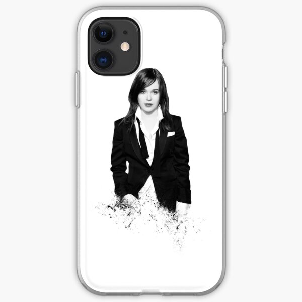 Ellen Page - shredded style iPhone Soft Case