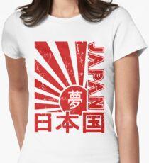 Vintage Japan Rising Sun Kanji T-Shirt Womens Fitted T-Shirt