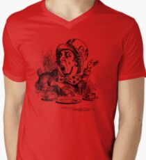 As Mad as a Hatter Mens V-Neck T-Shirt