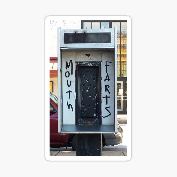 Phone Booth Graffiti Sticker