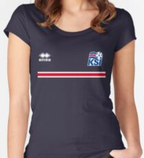 Iceland Football 2016 Women's Fitted Scoop T-Shirt