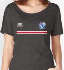 Iceland Football 2016 Women's Relaxed Fit T-Shirt