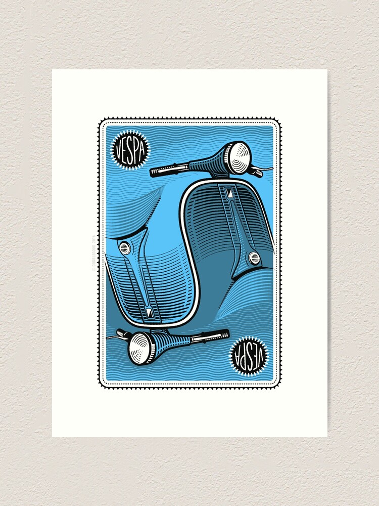 Alternate view of Two-in-One Vespa Art Print