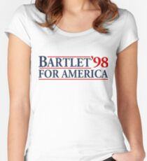 Bartlet for America Slogan Women's Fitted Scoop T-Shirt