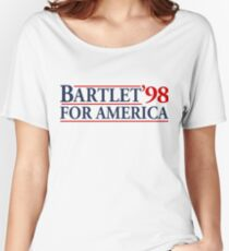 Bartlet for America Slogan Women's Relaxed Fit T-Shirt