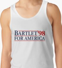 Bartlet for America Slogan Tank Top