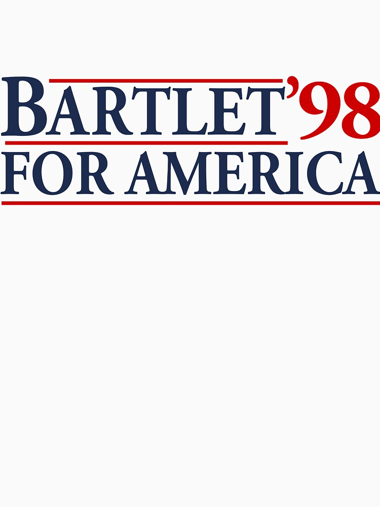 TShirtGifter presents: Bartlet for America Slogan | Unisex T-Shirt