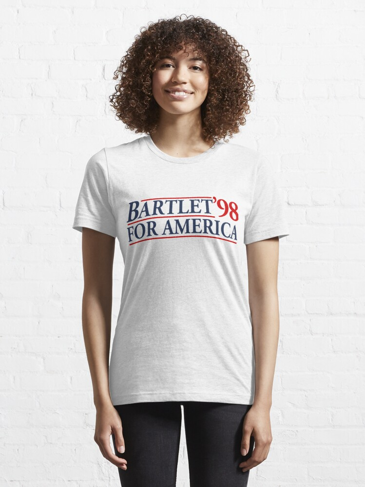 Alternate view of Bartlet for America Slogan Essential T-Shirt