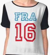 FRANCE 16 Women's Chiffon Top