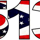 CINCINNATI OHIO 513 AREA CODE FLAG GRUNGE MIDDLETOWN OXFORD HAMILTON by MyHandmadeSigns