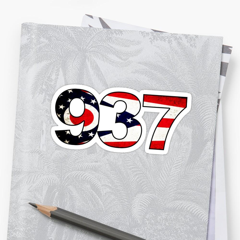 DAYTON OHIO AREA CODE FLAG GRUNGE KETTERING CENTERVILLE TROY - 937 area code