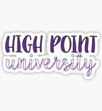 High Point University Sticker