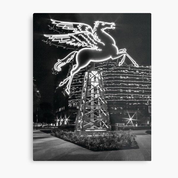 Dallas Pegasus BW Metal Print