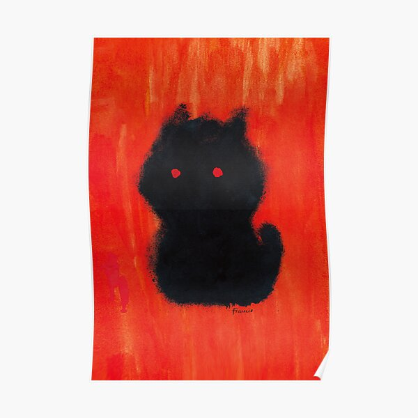 Red Dog puppy or kitten cat? Poster