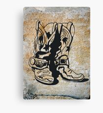 Cowgirl Cowboy Western Rodeo Boots Canvas Print