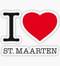 I ♥ ST. MAARTEN Sticker