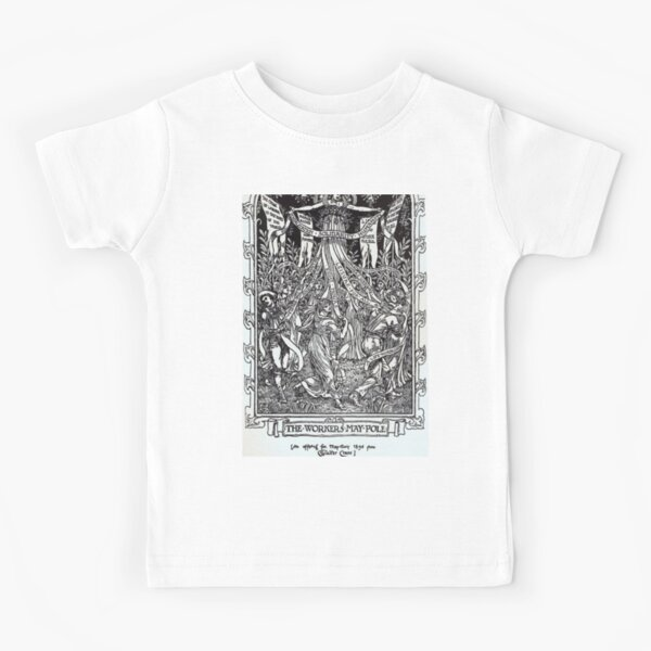Walter Crane illustration:  The Workers May Pole - May Day Beltane Ritual   Kids T-Shirt