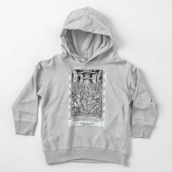 Walter Crane illustration:  The Workers May Pole - May Day Beltane Ritual   Toddler Pullover Hoodie