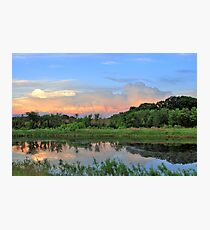 Waterscape With Sunset Clouds Photographic Print