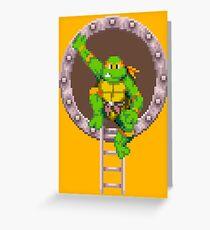 TURTLES IN TIME - MICHAELANGELO  Greeting Card