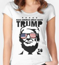 Donald Trump Make America Great Again Shirt Women's Fitted Scoop T-Shirt