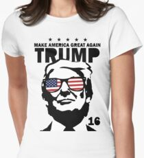 Donald Trump Make America Great Again Shirt Women's Fitted T-Shirt
