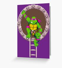 TURTLES IN TIME - DONATELLO Greeting Card
