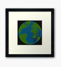 Silly Earth Framed Print