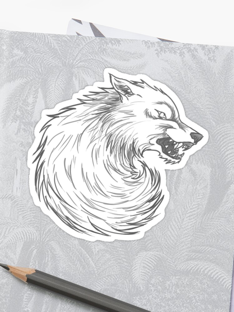 drawing game of thrones House Stark Wolf Graphic Drawing Game Of Thrones Sticker