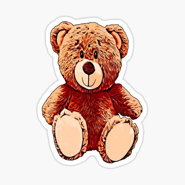 Legakulie Teddy braun Sticker