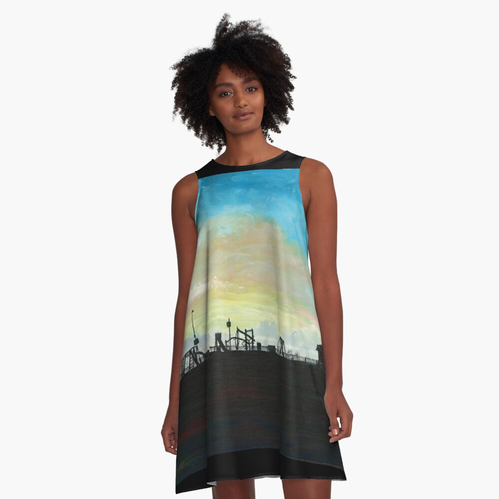 West Hill Playground at Dusk A-Line Dress